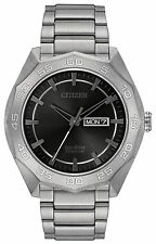 New Citizen Eco Drive Men's Super Titanium Bracelet Watch AW0060-54H