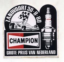 Adesivo Formula 1 GRAND PRIX NEDERLAND ZANDVOORT 1980 CHAMPION F1 sticker