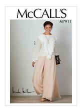 M7911 Sewing Pattern Nicole Miller Loose Fitting Pullover Top Pants 6-14 or14-22