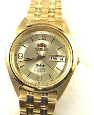 New Reloj  Orient  Men's 3 Star Standard Gold Tone  Automatic Watch FAB0000CC
