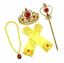 Alead Princess Belle Dress Up Party Accessories Gloves, Tiara, Wand and Neckl.