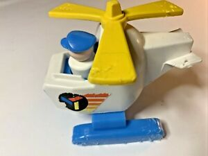 Fisher Price Little People Airplane & Man With Blue Hat Vintage 1978 #635