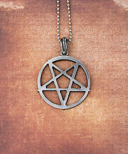 Inverted Pentagram Necklace - Medium - Pentacle Magic Symbol Occult Pantacle