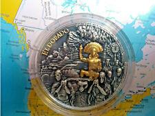 Niue 2020 5$ El Dorado 2 oz Silver Gold, 500 pcs