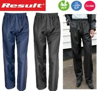 WATERPROOF Windproof Rain OVER TROUSERS, Light Comfortable- Blue Black, S to 3XL