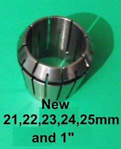 """Gloster ER32 collet all sizes 2.0-25.0mm and 1"""" NEW DIN6499B Quality collets"""
