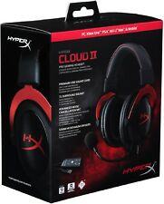 HyperX Cloud II Gaming Headset PC/PS4/Mac/Mobile 7.1 Virtual Surround Sound Red