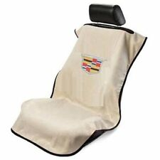 (1) Cadillac Logo Tan Seat Cover Seat Armour SA100CADT Towel New Free Shipping