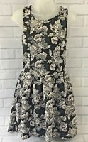 S.O.R.A.D. by ATV Women's Juniors Large Sleeveless Black/White Floral Dress