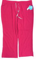 Urbane Performance Women's Wide Waistband Convertible Scrub Pants, Fuchsia, 3XL