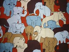 Tela FQ atestadas Elefantes Animales
