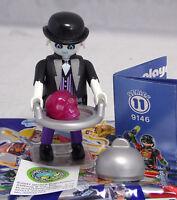 Playmobil 9146 Figures Boys Serie 11, Butler Geist Totenkopf Tablett Frak #8 NEU