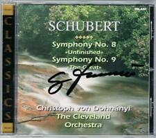 Christoph von DOHNANYI Signiert SCHUBERT Symphony No.8 Unfinished 9 The Great CD