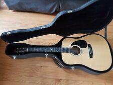 Dreadnought Acoustic Guitar, Kay 6 String , Natural (K536SN) W Hard Case