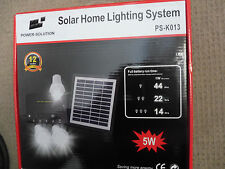 Solar Indoor Lights - Shed/Garage with all cables ## Free Post  Aussie Stock !