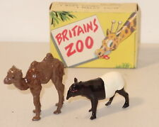 DTE 2 PC ENGLAND BRITAINS ZOO SERIES # 9006 BABY CAMEL & MALAY TAPIR NIOB