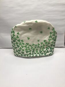 Rare Vintage Padded Cloth Teapot Or Toaster Cover Lucky Green Shamrock ☘️  ☘️