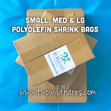 "1500-Polyolefin Shrink Bags 3 sizes (4x6"", 6x6.5"", 6.5x10.5"") 75g, USA Seller"