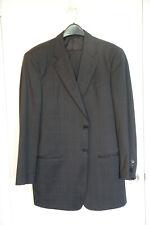 Armani Collezioni 2-piece suit navy blue windowpane 40L wool gorgeous