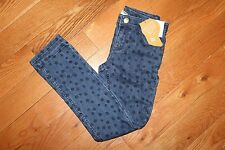 NWT Gymboree Cape Cod Cutie Size 7 Blue Dot Denim Stretch Jeans Pants