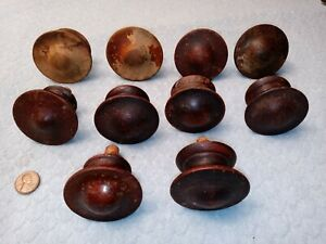 Wood Drawer Knobs Mid Size Round Wood Architectural Salvage Supplies Four Antique Wood Finials Drawer Pulls