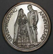 1972 Silver Wedding Anniversary Elizabeth & Philip Duke Edinburgh Proof Medal