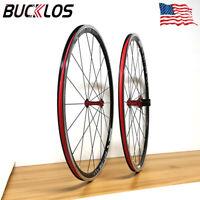 BUCKLOS Road Bike 700C Wheelset fit 7-11 Speed Cassette Rims Double-Aluminum
