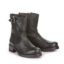 Buffalo Damen Boots gefüttert Leder schwarz 42 Neu ES 30446 H14796