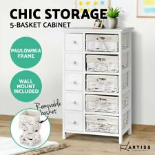 Artiss Storage Cabinet Dresser Chest of Drawers Bedside Tables 5 Baskets Hallway