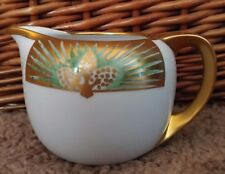 Hand Painted Made in Japan Pine Cone Gold Trim China Ceramic Creamer