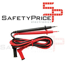 2 CABLES PROBES FOR DIGITAL METER MULTIMETER 1M PROBES CLAMP CONNECTOR SP