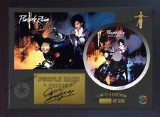 Purple Rain PRINCE SIGNED FRAMED PHOTO CD Disc Purple Rain Perfect gift