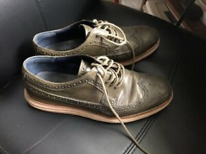 Cole Haan Wingtip Oxford Shoes (olive green)