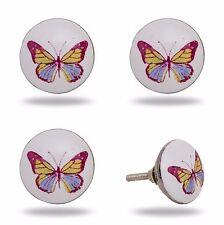 4 Möbelgriffe Möbelknopf Butterfly Knopf Schmetterling Möbelzubehör Griff Knauf