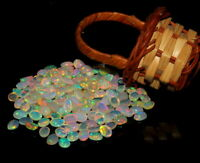 3x5 mm Natural Ethiopian Welo Fire Opal Cabochon Loose Gemstone 200 Pieces Lot