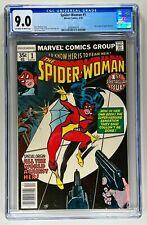 SPIDER-WOMAN #1 CGC 9.0 NM (MARVEL 1978) 🔑 NEW ORIGIN 🔥 HIGH GRADE BRONZE