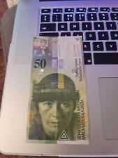 More details for fifty 50 swiss francs bank note. leftover holiday money.