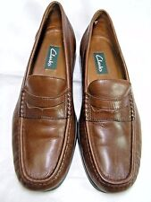 Clarks Active Air 3693-3 Mens Brown Leather Size 9.5 M Penny Loafers #80 JJ