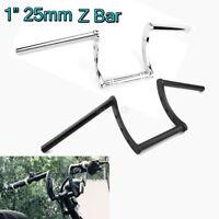 Guidon Z-Bar Moto Bobber 25mm 1'' handlebar Bike pour Honda Yamaha Suzuki Harley