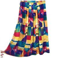 Vintage 80s Full Pleated Midi Skirt Size 14 Nebula Sportswear