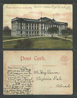 1910s OMAHA HIGH SCHOOL OMAHA NEB NEBRASKA POSTCARD