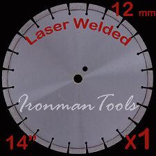 """14"""" 12mm Seg Laser Welded Asphalt Green Concrete Abrasive Material Diamond Blade"""