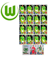 Match Attax 2016 2017 VfL Wolfsburg Basiskarten Star Kapitän Club Set 19 Karten