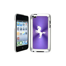 Purple Apple iPod Touch 4th Generation Hard Case Cover B192 Unicorn