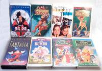 Lot of 8 VHS Disney Movies Children's Kids Tapes Gift Parent Trap Tarzan Dumbo +