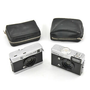 Chaika 2 & Chaika 2M 135 Format Half Frame Camera Bodies w/ Cases! AS IS!