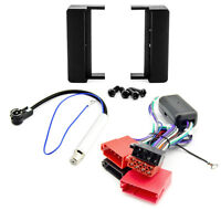 Radioblende Set für Audi A6 C5 4B DIN Blende Rahmen Adapter Aktivsystem schwarz