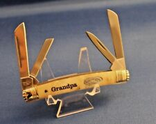 "Troublesome Creek ""Grandpa"" Congress Knife 4-blade White Pearl Corelon handles"