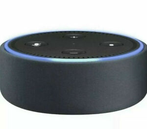 Amazon Echo Dot Leather Case, Compatible with 2nd Generation, Midnight Black
