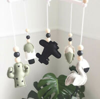 Rotating Mobile Hanger Hanging Bed Bell Baby Aircraft Wool Felt Pendant Rattles